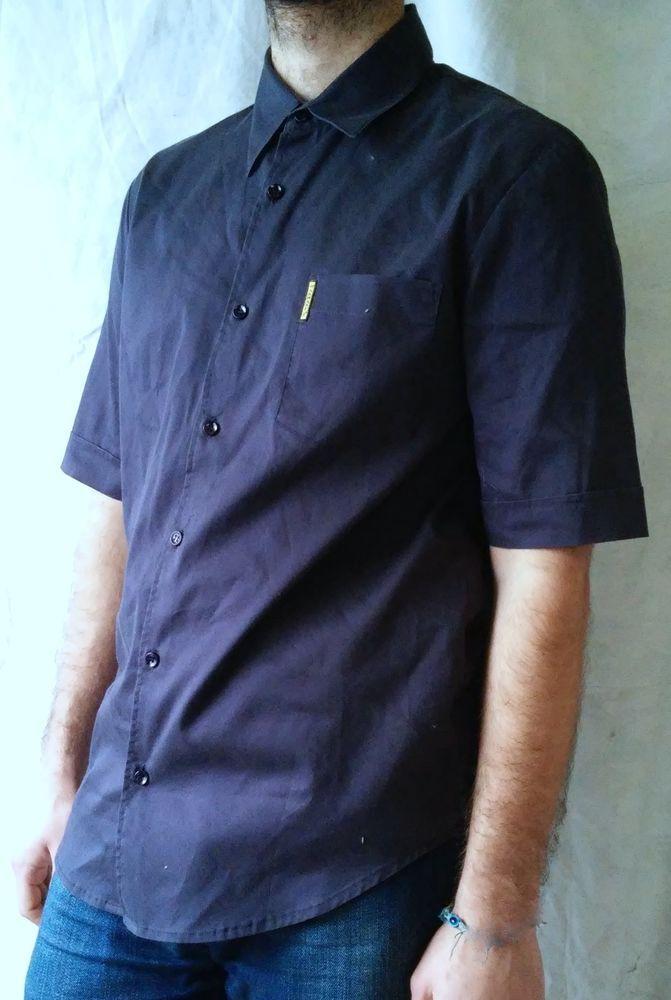 #tumbrl#instagram#avito#ebay#yandex#facebook #whatsapp#google#fashion#icq#skype#dailymail#avito.ru#nytimes #i_love_ny     Armani Jeans Navy Blue Button-Front Short Sleeve Casual Shirt Size L #ArmaniJeans #ButtonFront
