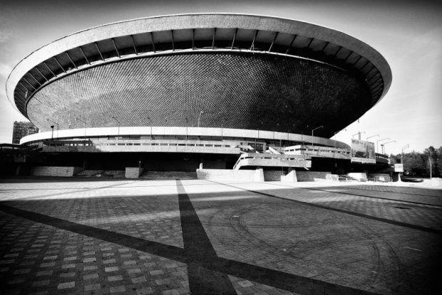 Hala Widowiskowo-Sportowa Spodek, Katowice, 1971, projekt prof. arch. Maciej Gintowt, arch. Maciej Krasiński