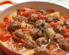 cocotte aux aromates - on peut remplacer la viande par des protéines végétales