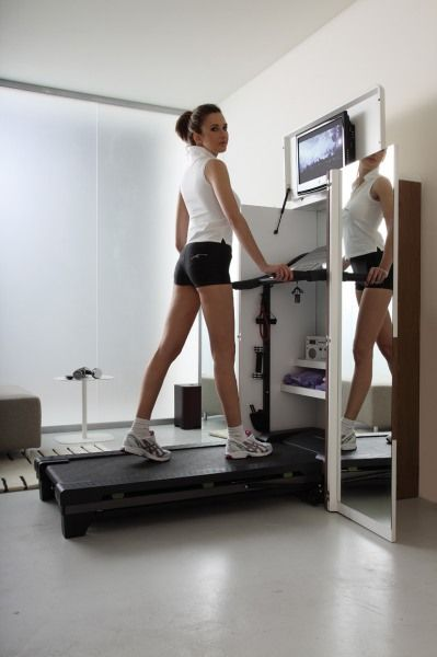 Home Gym folds up into cabinet! Space saver - Best Home Exercise Machine For Modern Interior Design Xfit From Tumidey