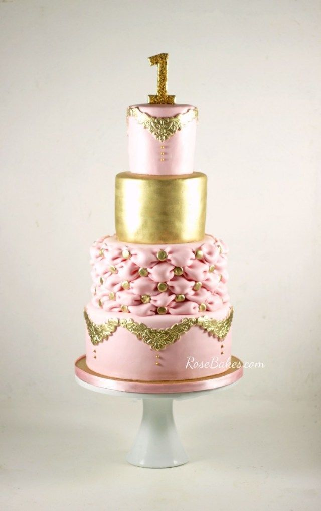 23 Brilliant Picture Of Elegant Birthday Cake 11 Pink And Gold Cakes Photo BirthdayCakeToppers