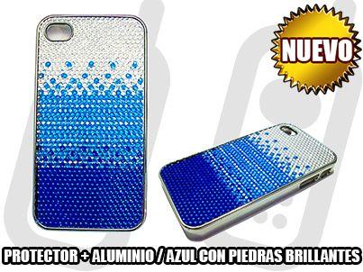 *NUEVO* - PROTECTOR + ALUMINIO / AZUL CON PIEDRAS BRILLANTES - SOLO EN MGWIRELESS!!!  https://www.facebook.com/mgwirelesstj