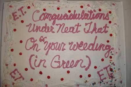 Cake decorating fail