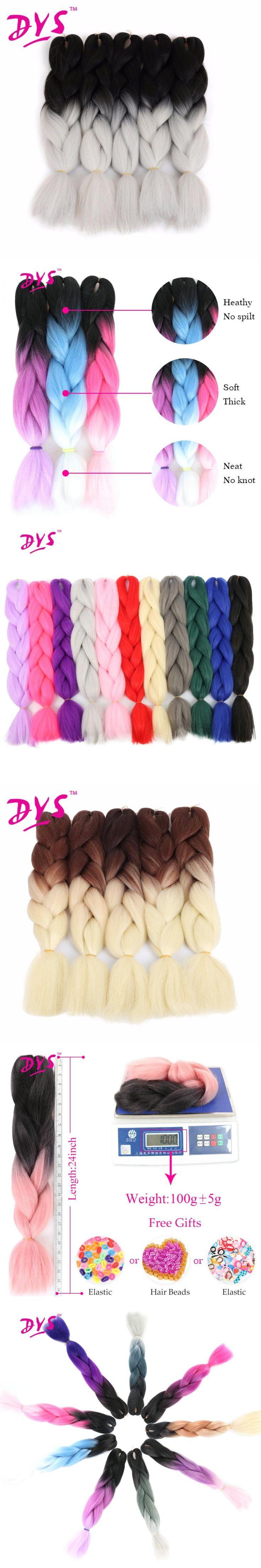 Deyngs Ombre Kanekalon Braiding Hair Extensions Two/Three Tone Synthetic Kinky Twist Braid Hair 24Inch 100g/pcs Heat Resistant