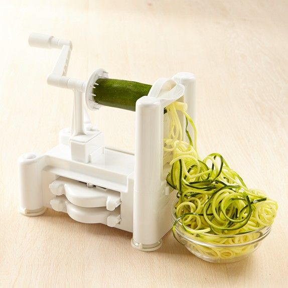 Paderno Spiralizer | Williams-Sonoma - Totally obsessed with this gadget and zucchini noodles . . .