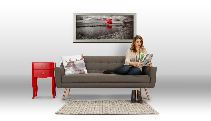 Skandináv retró stílusú kanapé