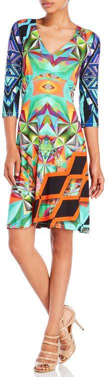 custo barcelona Martita Here Printed Jersey Dress