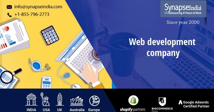 Web development company, SynapseIndia offers website design and