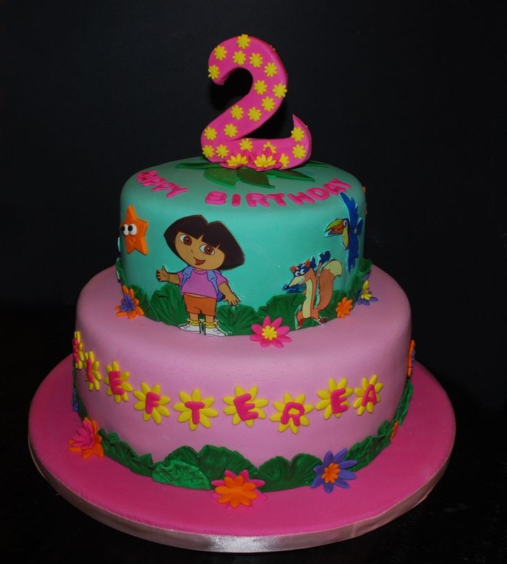 Homemade birthday cake Recipe Dora cake Cake and Birthdays