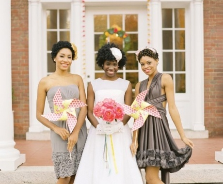 I Kind Of Like The Style Of The Bridesmaid On The Right