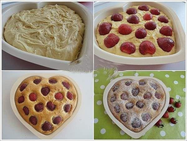 Sütsüz Yoğurtsuz Çilekli Kek Tarifi