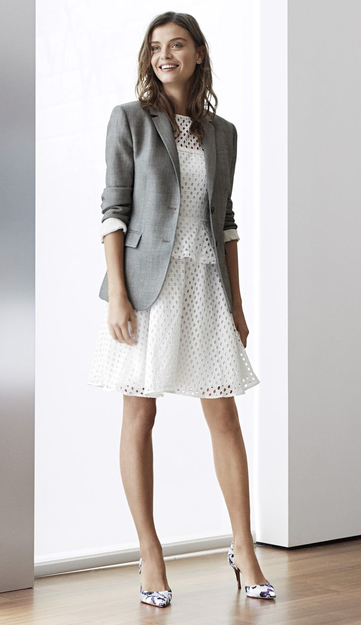 Best 25+ Grey blazer outfit ideas on Pinterest   Grey blazer black pants Casual work attire and ...