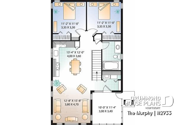 Discover The Plan 2933 The Murphy Which Will Please You For Its 2 Bedrooms And For Its Cottage Chalet Cabin Styles Garage House Plans Garage Apartment Plans Carriage House Plans Garage Apartments
