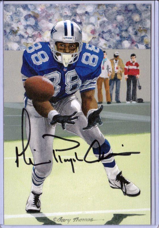 Dallas Cowboys MICHAEL IRVIN 35/100 autographed signed Goal Line Art Gold Seal