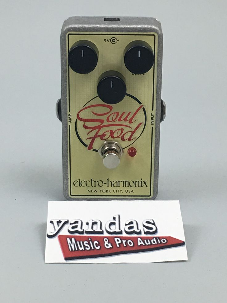 Electro-Harmonix Soul Food Distortion/Overdrive Guitar Effects Pedal