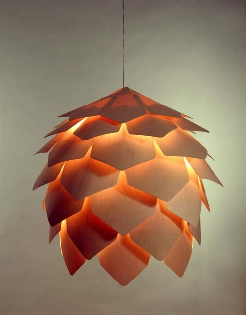 Crimean Pinecone Lamp by Russian designer Pavel Eekra