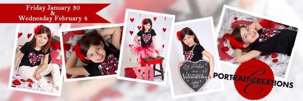 """Valentine's Quick Pix"" Portrait Creations Professional Children's Studio in Charlotte, NC."