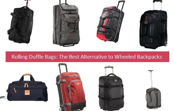 Rolling Duffle Bags are the best alternative to wheeled backpacks and a top choice if you like luggage with wheels
