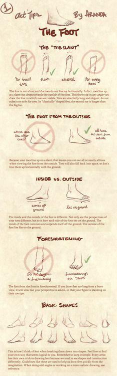 Art Tips - The Foot ✤ || CHARACTER DESIGN REFERENCES | キャラクターデザイン | çizgi film •