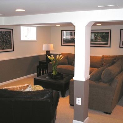 Hiding The Ducts And Pole Traditional Basement Small Basement Remodeling Ideas  Design, Pictures, Remodel, Decor And Ideas   Page 15 Part 35