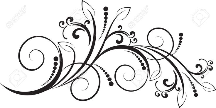 16435665 Floral pattern with decorative branch Stock