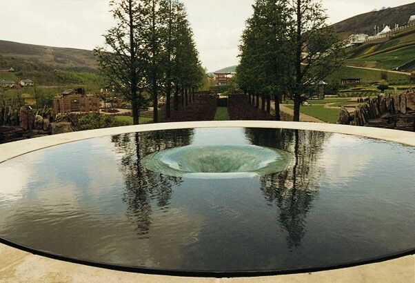 """groundcovers: """" Brimming Bowl concept — William Pye water sculpture. These works have all incorporated internal weirs within a pool, both as aesthetic features and also as a means of circulating the water. """""""