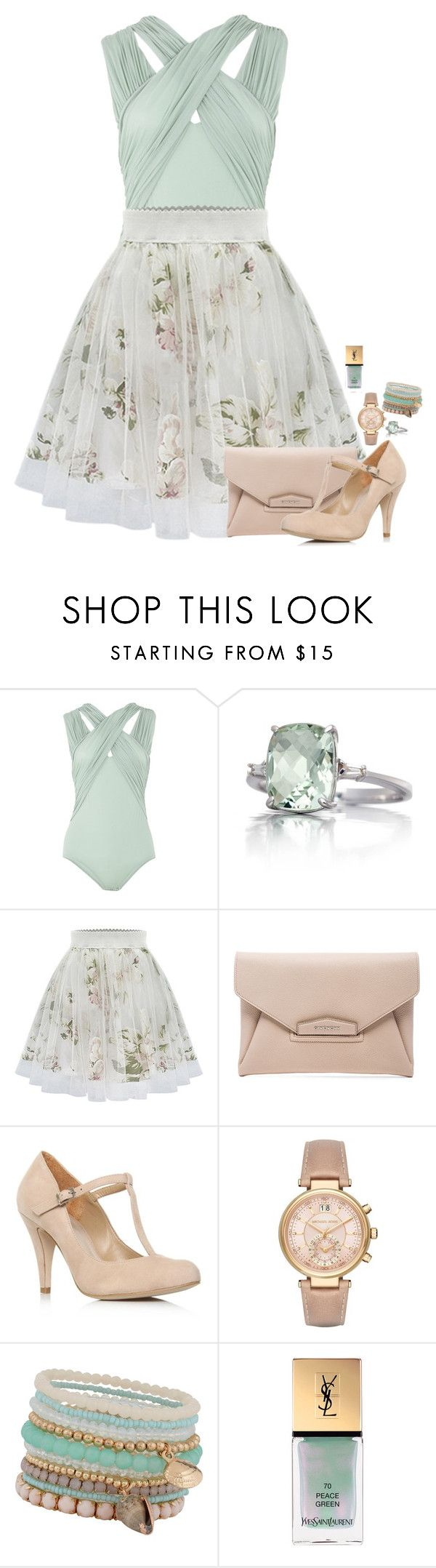"""""""Love me like you"""" by cora97 ❤ liked on Polyvore featuring Zimmermann, Belk & Co., Givenchy, Carvela, Michael Kors, ALDO and Yves Saint Laurent"""