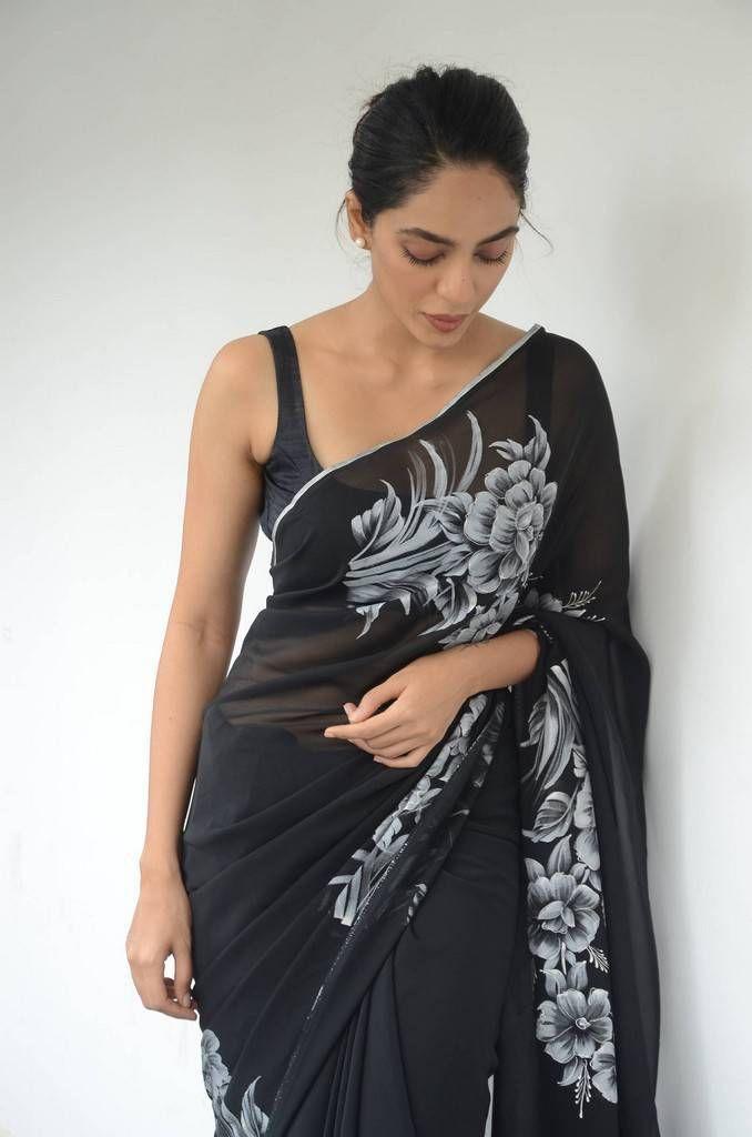 Sobhita Dhulipala In Black Saree At Goodachari Movie