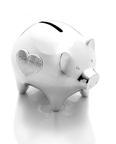 1000 images about piggy bank on pinterest piggy bank personalized piggy bank and coins - Engraved silver piggy bank ...