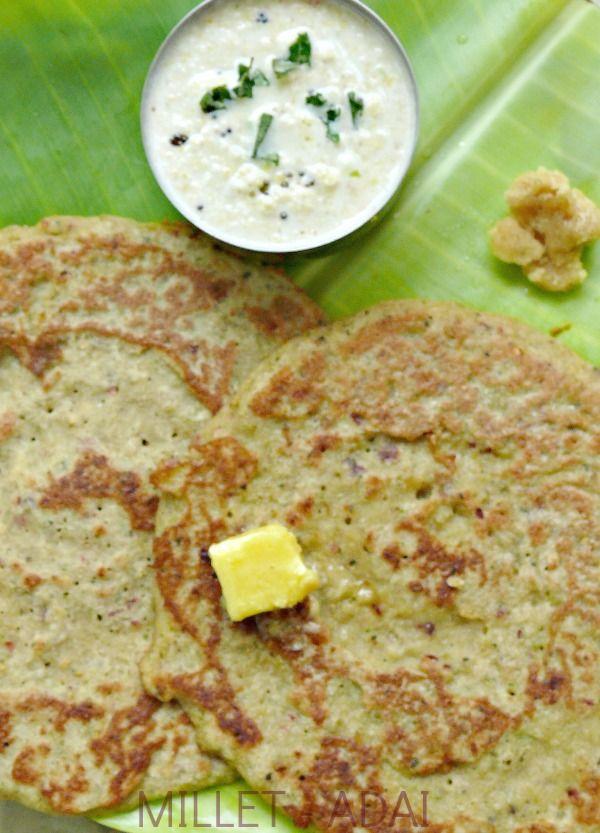 millet recipe/(kuthiraivalli,thinai and samai adai)/millets adai