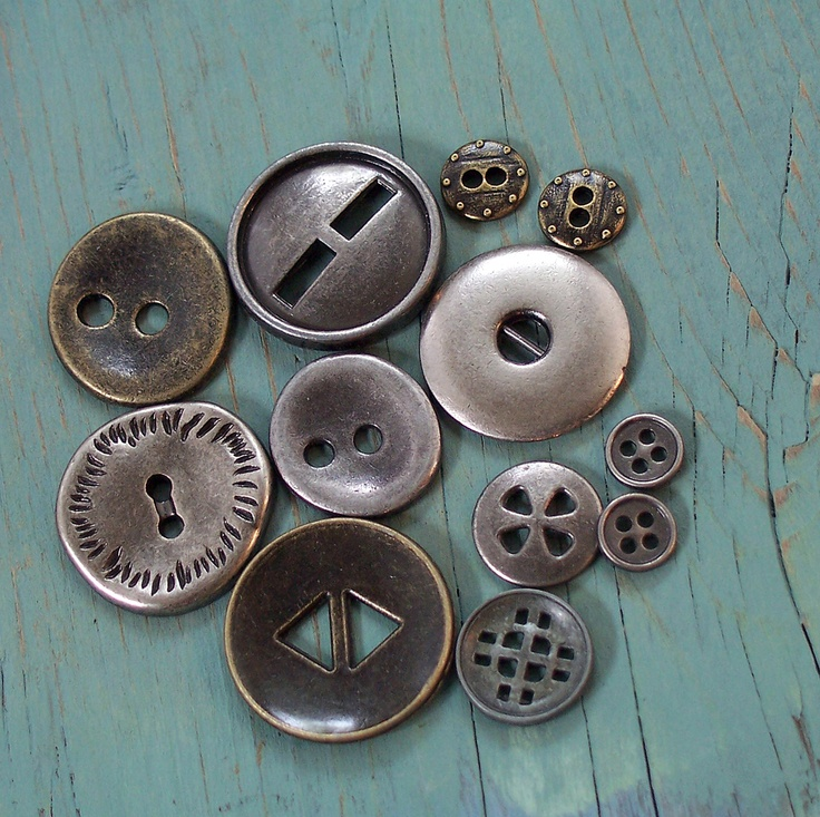 silver grey buttons