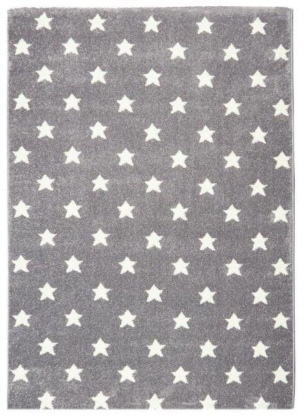 Detsky koberec LITTLE STARS strieborna-sivá/biela