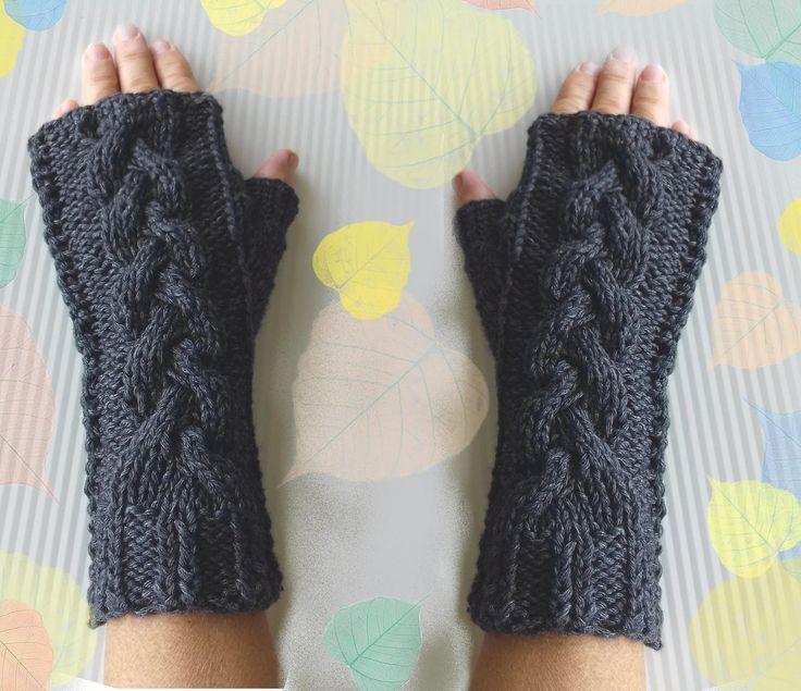 Fingerless Gloves Cashmere Warm Cozy Hand Warmers Stocking Stuffers Elegant Design Unisex by Dorsiana on Etsy
