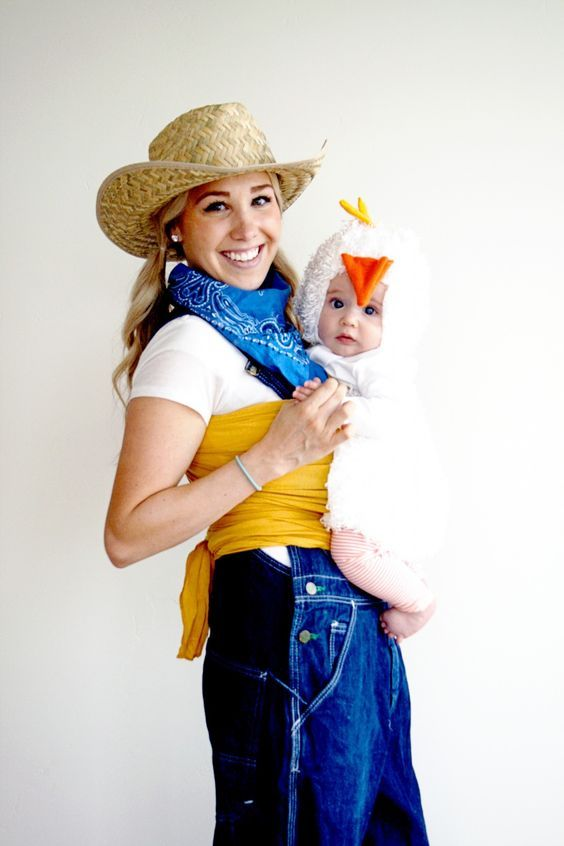 Farmer and Chicken Babywearing Costume.