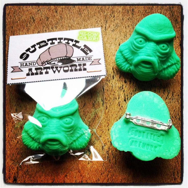 handmade Creature From The Black Lagoon Polymer clay brooch accessories vintage retro horror movie by SubtitleArtwork on Etsy https://www.etsy.com/uk/listing/213029688/handmade-creature-from-the-black-lagoon