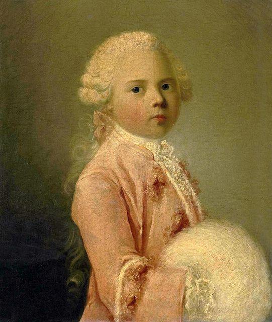 Louis-François Xavier de Bourbon, Duc de Bourgogne à sept ans