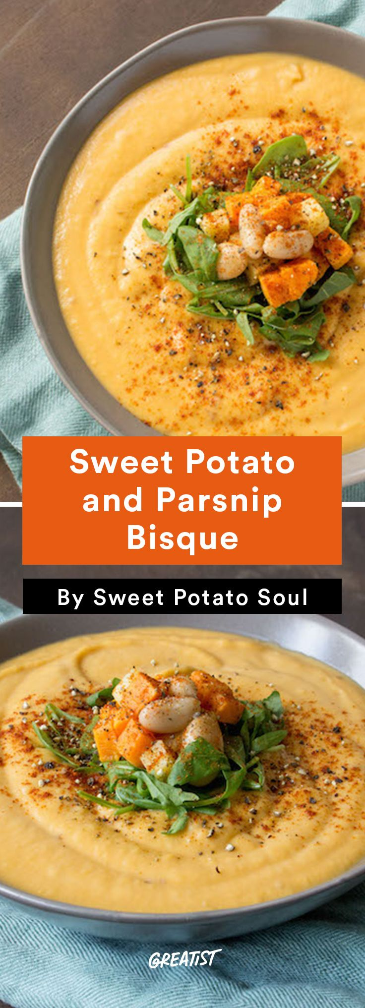 8. Sweet Potato and Parsnip Bisque #sweet #potato #recipes http://greatist.com/eat/sweet-potato-recipes-for-every-meal