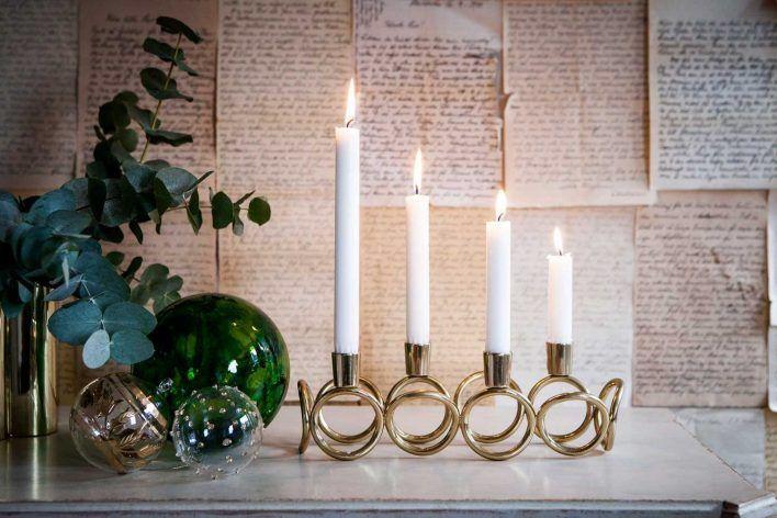 Fina adventsljusstakar för levande ljus!