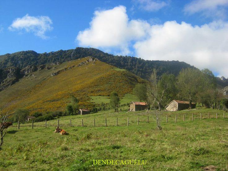Los Tableros, Natuurpark Ponga, in december, Asturias