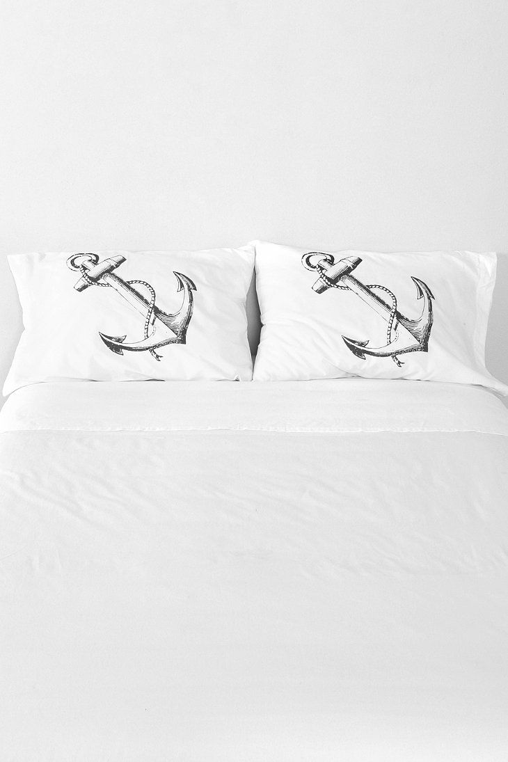 The Rise And Fall Anchor Pillowcase - Set Of 2 Urban Outfitters. For the bed!