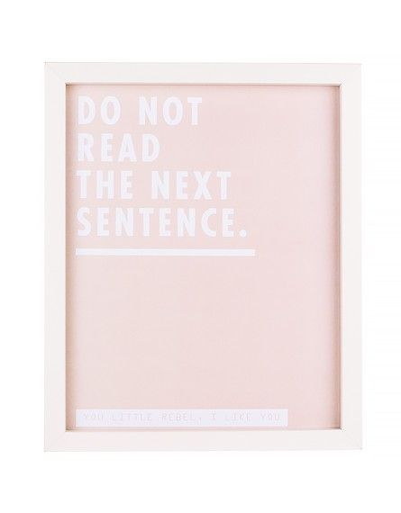 Cadre « Do not read the next sentence »