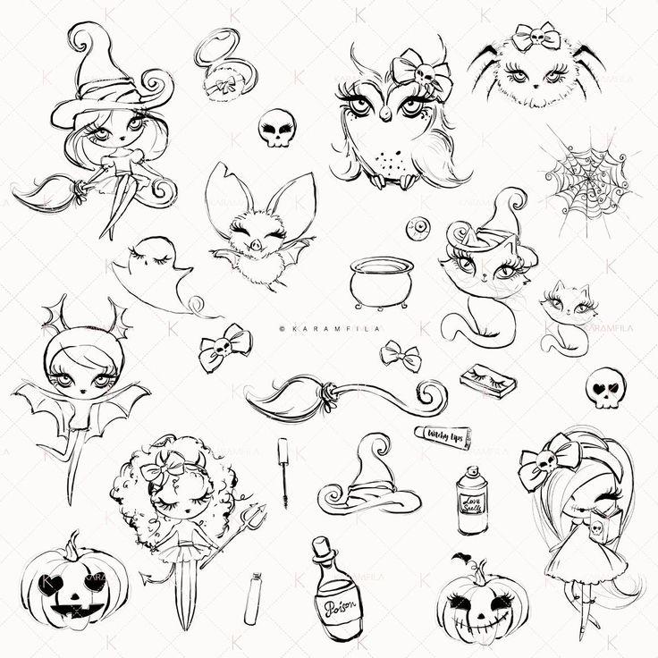 Halloween Doodle Clipart Karamfilas' 2018 in 2020