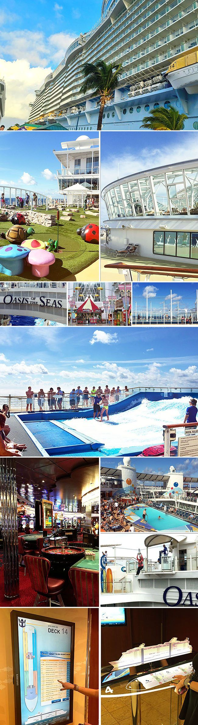 Royal Caribbean Oasis of the Seas cruise ship details and cruising tips at TidyMom.net