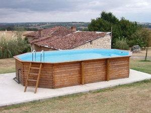 Wood frame above ground pool basement pinterest - Wood above ground pool ...