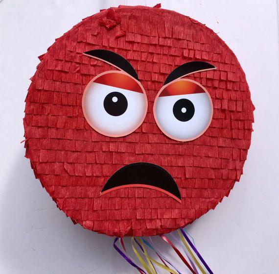 EMOJI PINATA del partido Emoticon enojado partido partido de