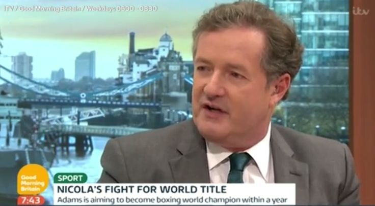 Piers Morgan sparks Twitter backlash after airing his sexist views on womens boxing to Nicola Adams