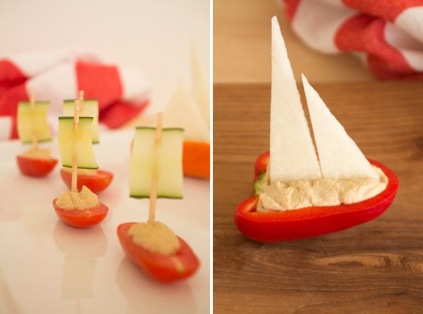 Veggie Boats: Party Snacks, Veggies Food, Cute Idea, Party Idea, Nautical Party, Kids Party, Veggies Boats, Food Art, Sailing Boats