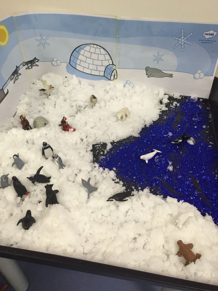 Love the Arctic small world in class this week! ☺️