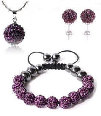 Infinity Shamballa Set Purple