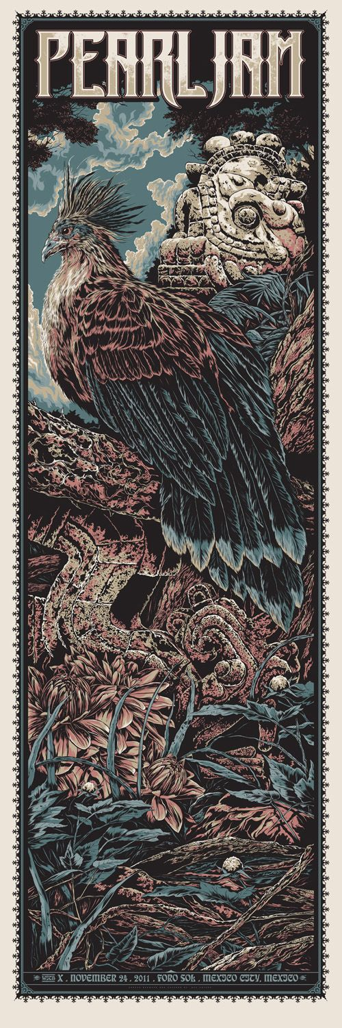 Pearl Jam Poster - by Ken Taylor